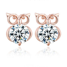 Load image into Gallery viewer, Fashion Big Crystal Owl Stud Earrings For Women