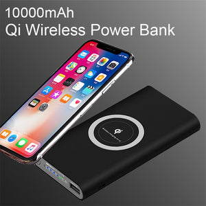 Universal Portable Qi Wireless Power Bank For iPhone Samsung