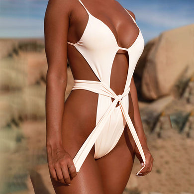 New Design Backless Monokini Bandage Style Women Swimsuit