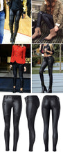 Load image into Gallery viewer, 2019 Winter High Waist Leather Pants