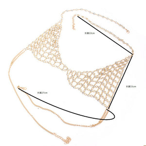 New Fashion Gold Color Body Chain Bra