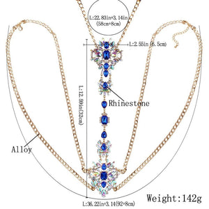 Body Belly Waist Charm Elegant Chain Party Necklace