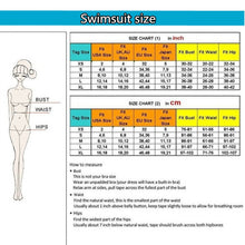 Load image into Gallery viewer, Deep V Vintage Women One Piece Swimsuit Cross Strap
