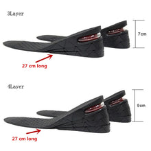 Load image into Gallery viewer, Adjustable Shoe Heel 3-9cm Height Increase Insole