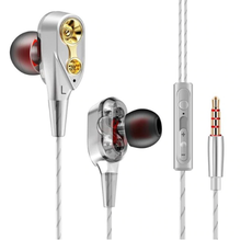 Load image into Gallery viewer, Tebaurry Double Unit Drive In Ear Bass Subwoofer Earphone