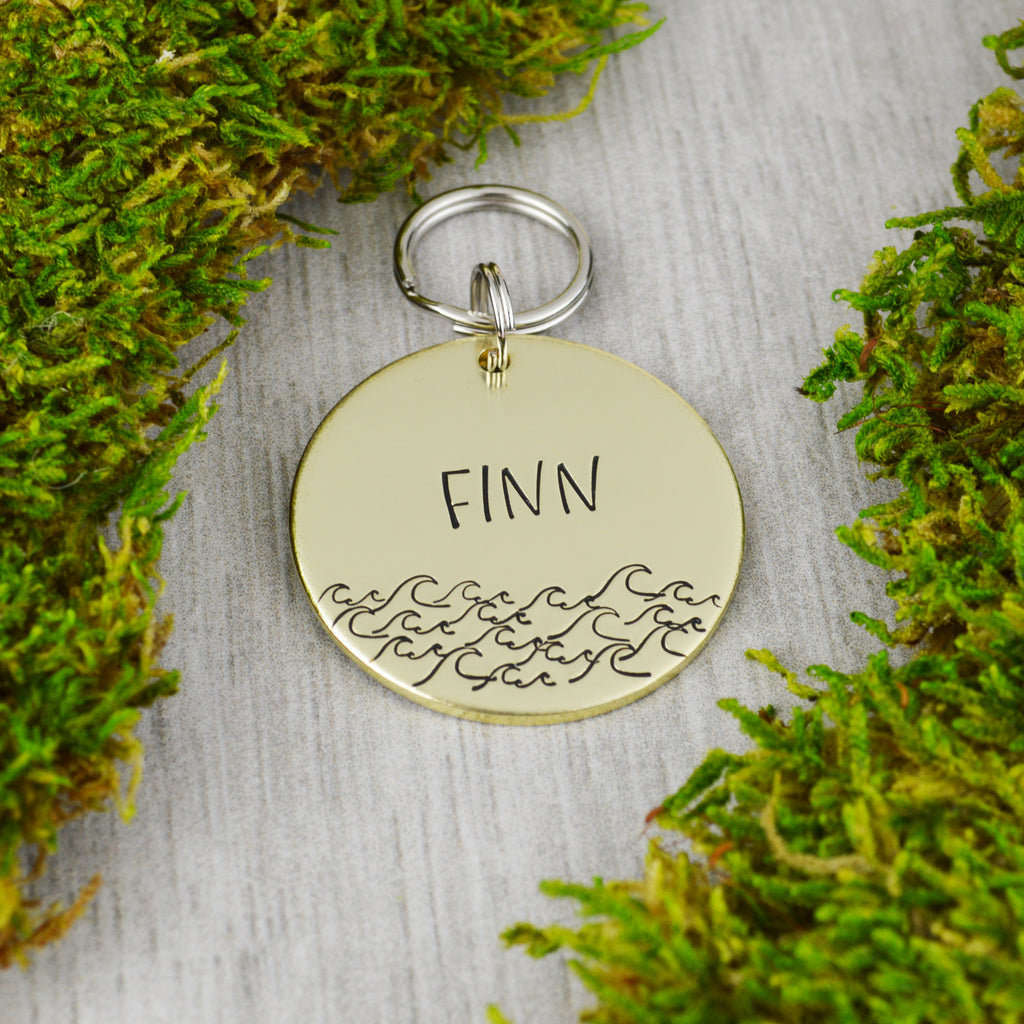 Catch A Wave Pet ID Tag