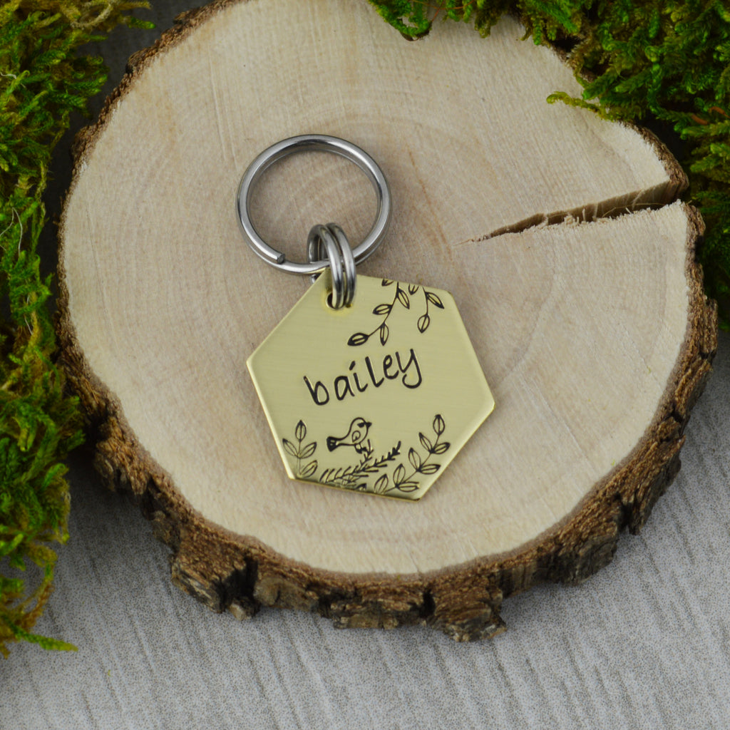 Bird in the Tree Mini Pet ID Tag
