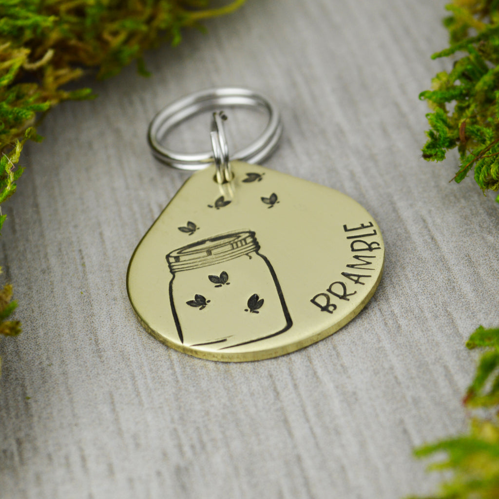 Catching Fireflies Pet ID Tag