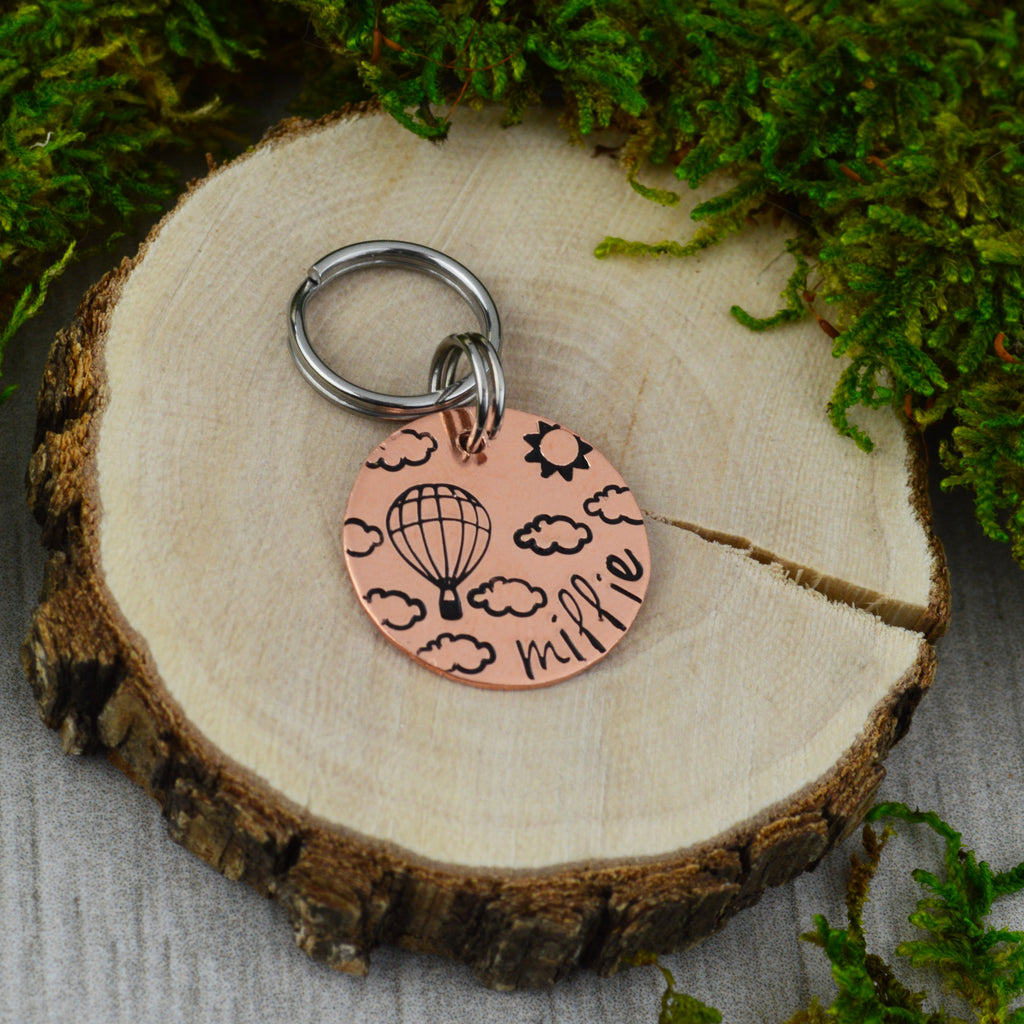In The Clouds Mini Pet ID Tag