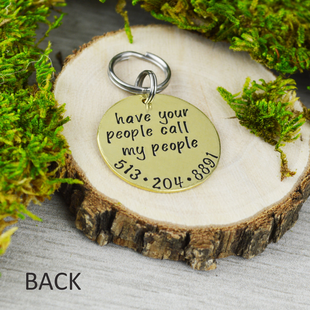 Have Your People Call My People Round Pet ID Tag