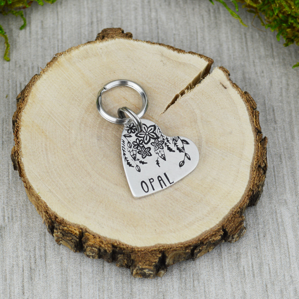 Floral Vines Mini Pet ID Tag