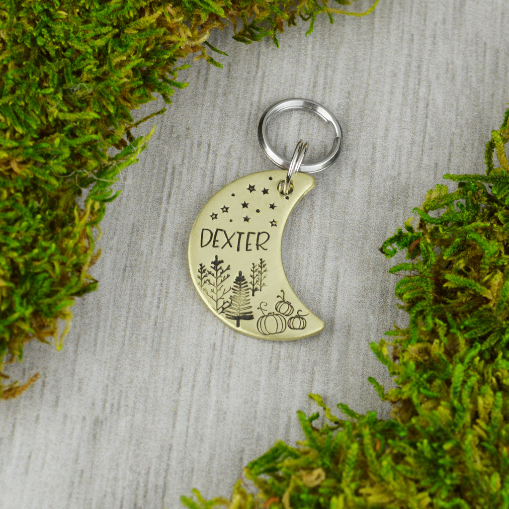 Autumn Moon Pet ID Tag