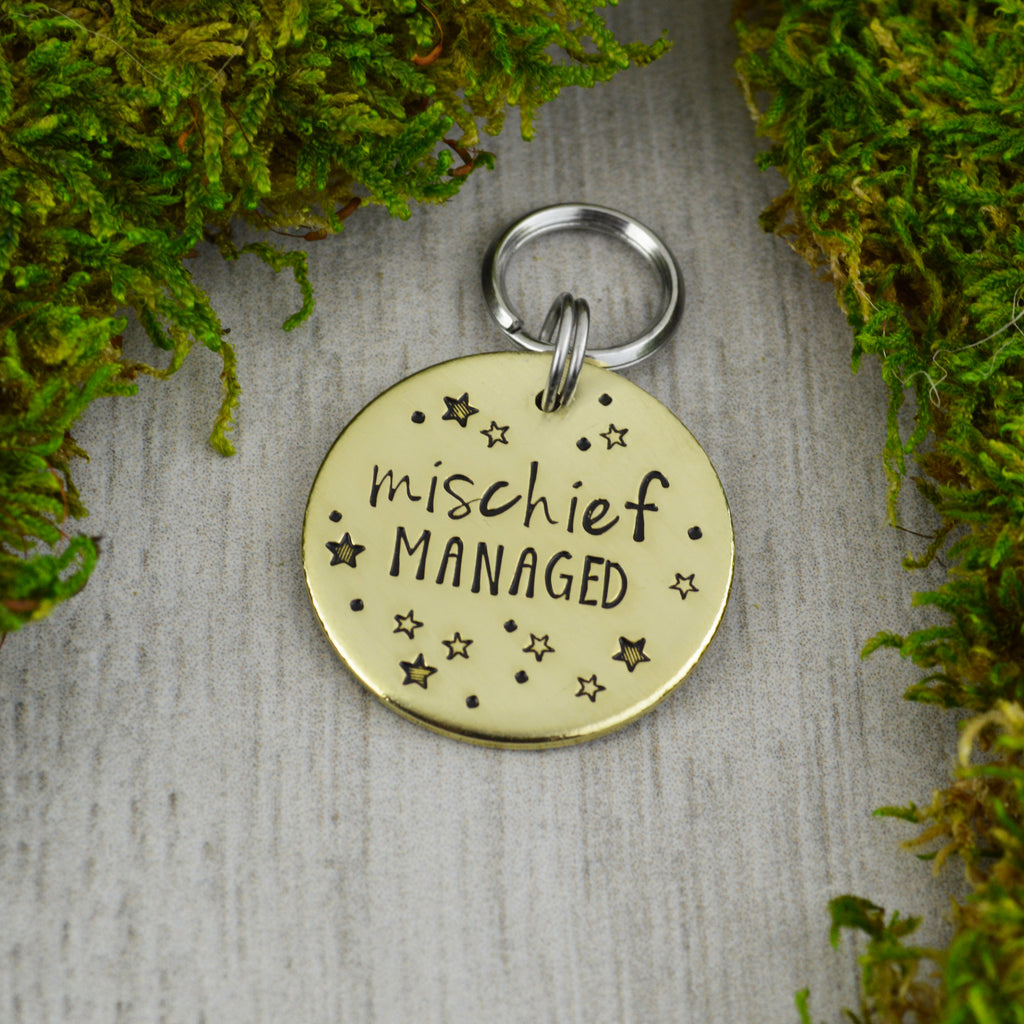 Mischief Managed Pet ID Tag