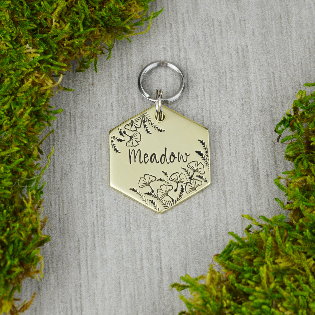 Ginkgo Meadows Pet ID Tag