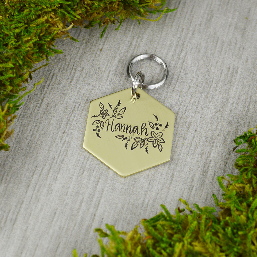 Floral Burst Pet ID Tag