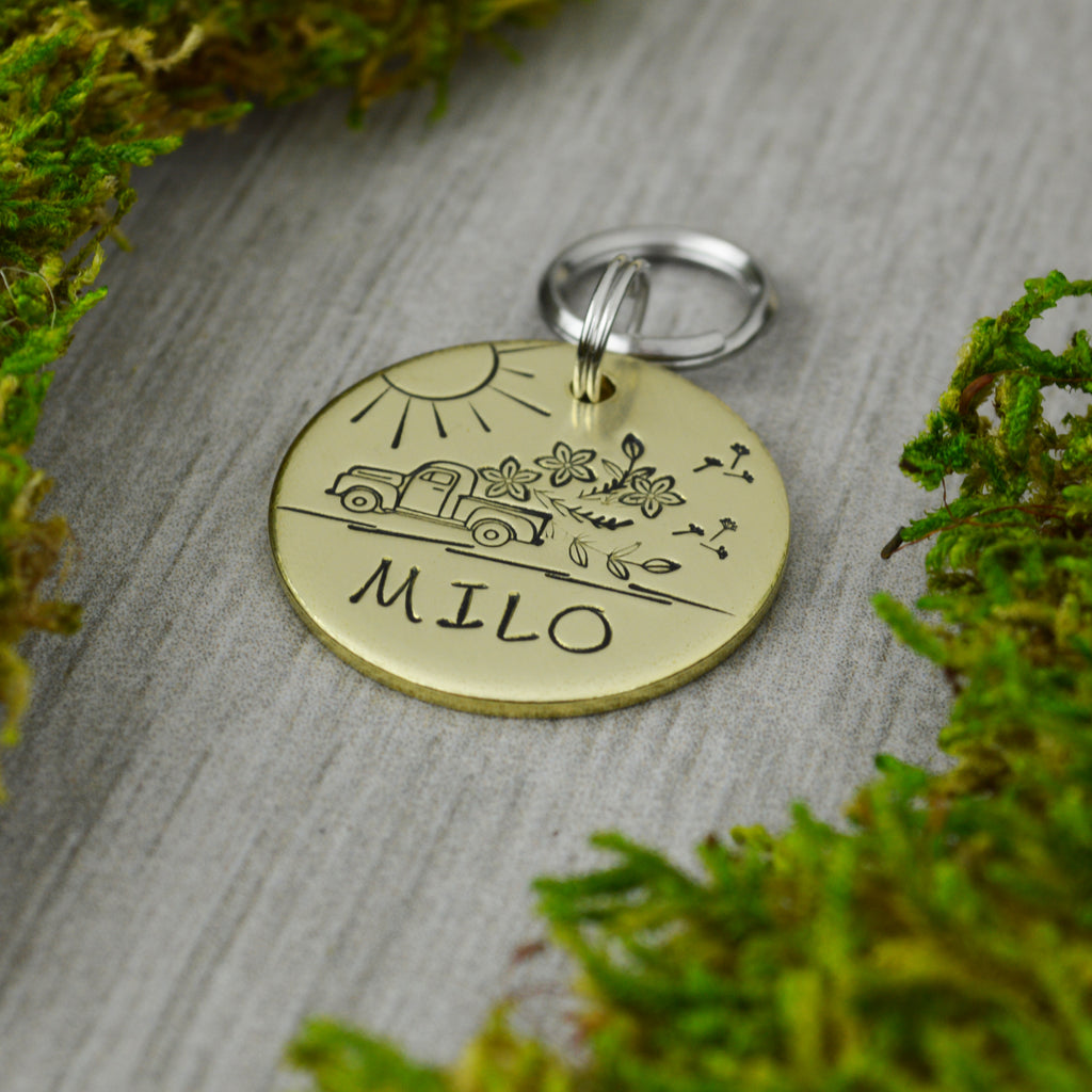 Fresh Flowers Pet ID Tag
