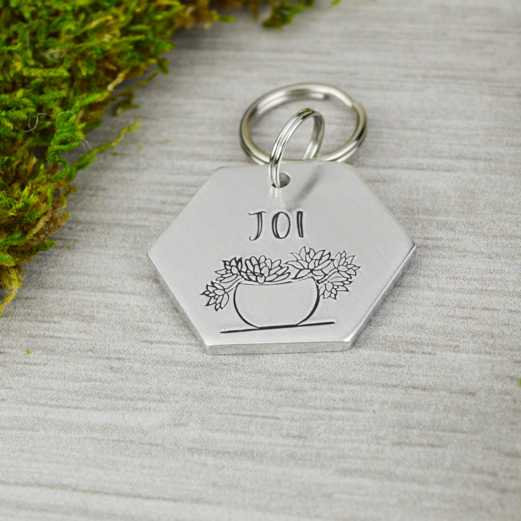 Hen & Chicks Pet ID Tag