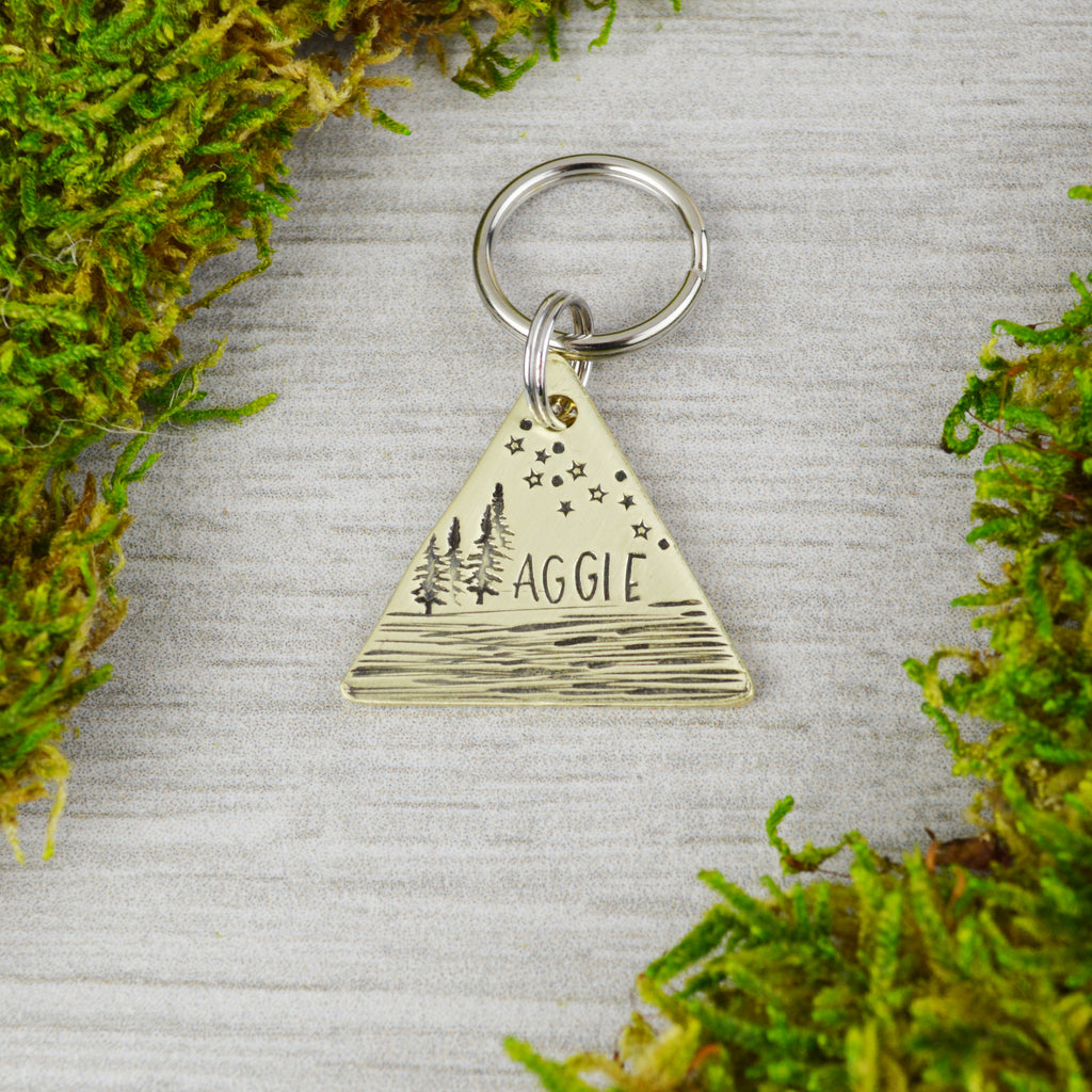 Starry Night on the Lake Pet ID Tag