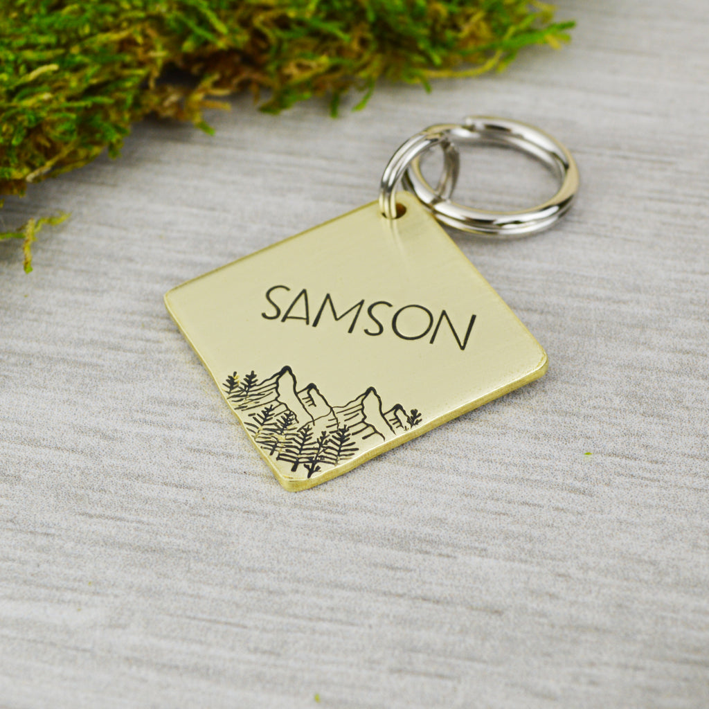 Spring in the Rockies Pet ID Tag