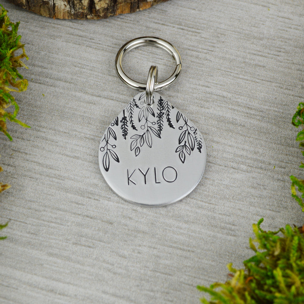 Cascading Vines Pet ID Tag