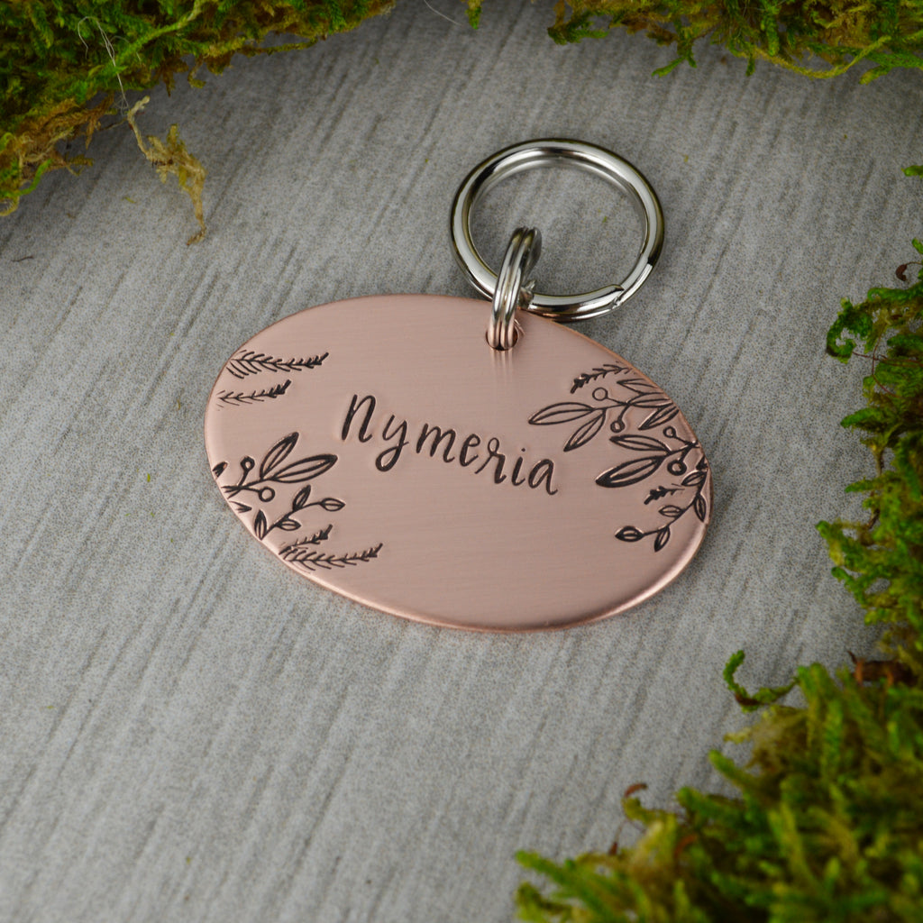 Winter Vines Pet ID Tag