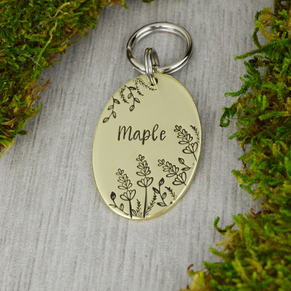Lavender in the Breeze Pet ID Tag