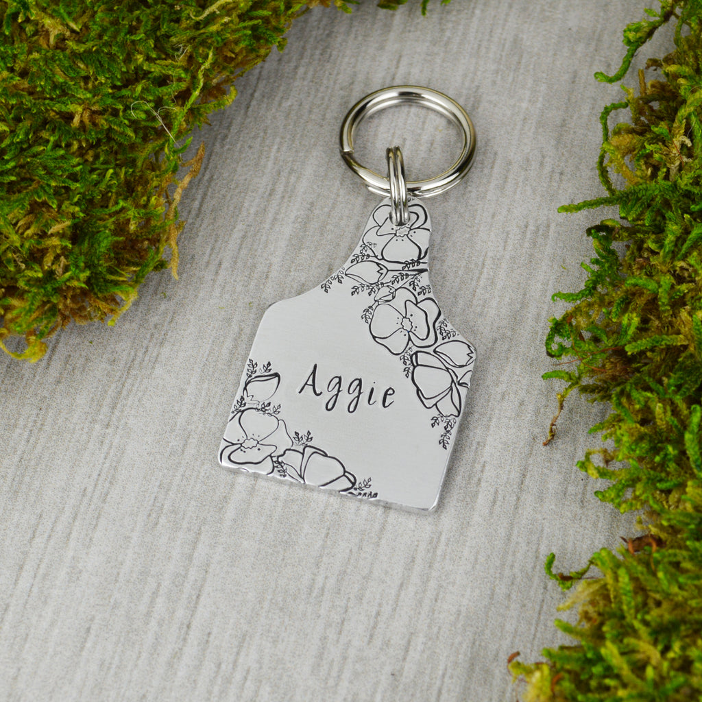 Bouquet of Poppies Pet ID Tag