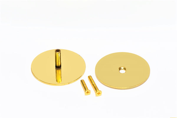 polished brass hole cover