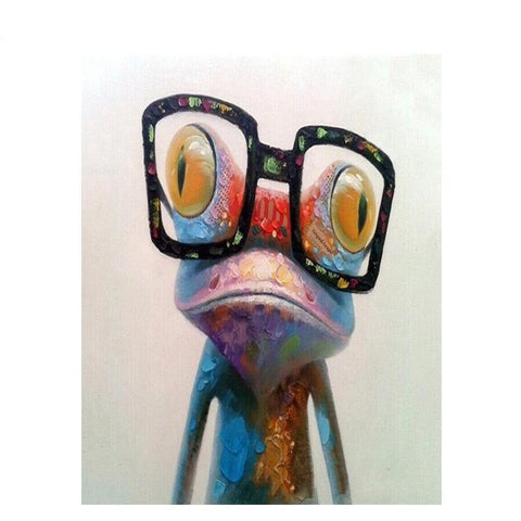 Abstract Frog In Glasses 40cm x 50cm