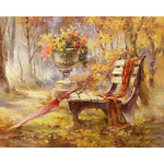 Autumn Bench 40cm x 50cm