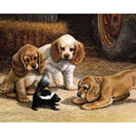 Puppies Playing 40cm x 50cm