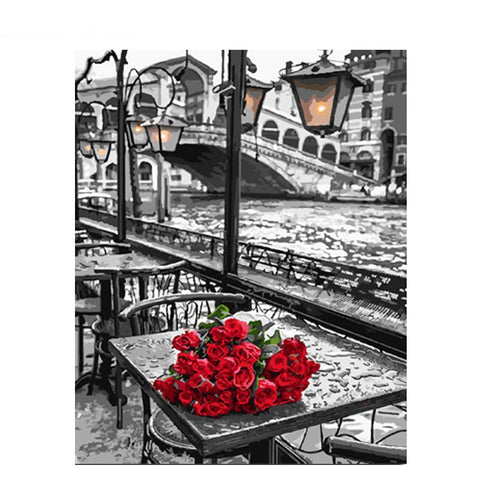Roses In The City 40cm x 50cm