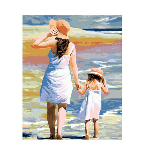 Mum & Daughter At The Sea 40cm x 50cm