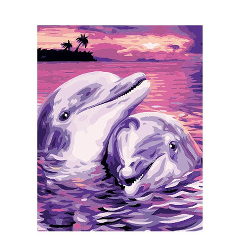 Dolphins In Love 40cm x 50cm