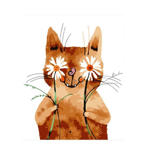 Cartoon Daisy Cat 40cm x 50cm