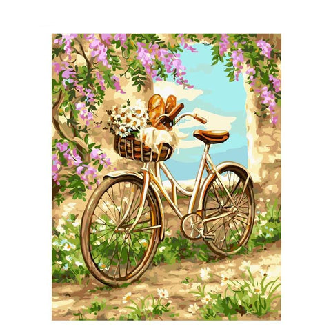 Bicycle & Basket 40cm x 50cm
