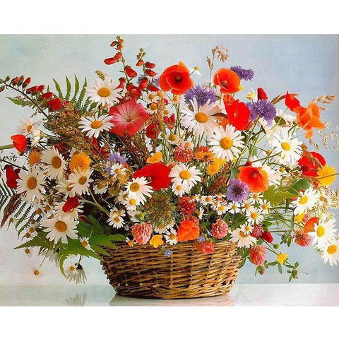 Wild Flowers In Basket 40cm x 50cm
