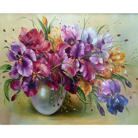 Purple Flowers 40cm x 50cm