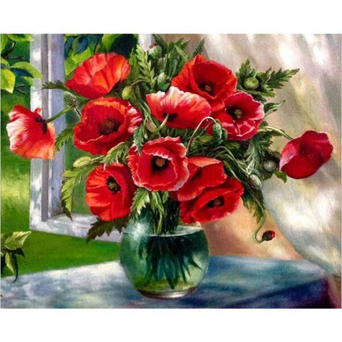 Red Flowers 40cm x 50cm