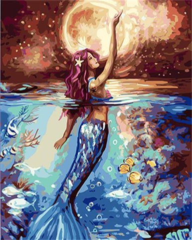Mermaid At Night 40cm x 50cm