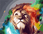 Abstract Lion 40cm x 50cm
