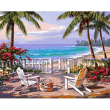 Deck Chairs At The Sea 40cm x 50xm