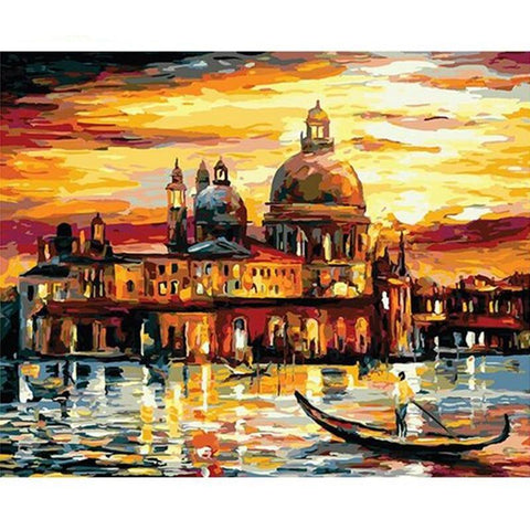 Venice At Sunset 40cm x 50cm