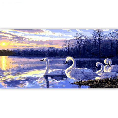 Swans On The Lake - Various Sizes