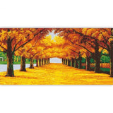 Tree Lined Autumn Path - Various Sizes Available