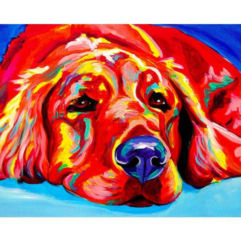 Colourful Dog 40cm x 50cm