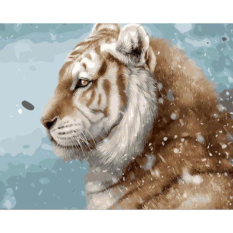 Tiger In The Snow 40cm x 50xm