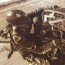 Load image into Gallery viewer, Wooden Photo Engraving of Your Track or Race Day (Motorcycles) - Wilson-Made