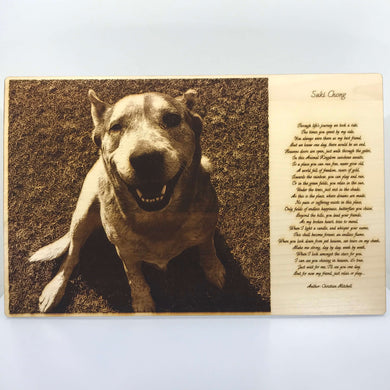 Pet Photo Engraving (Extra Large) - Wilson-Made
