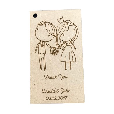 Wedding Bomboniere Favour (Cute Couple) with Custom Engraving - Wilson-Made